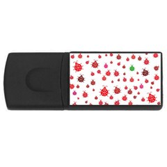 Beetle Animals Red Green Fly Usb Flash Drive Rectangular (4 Gb)