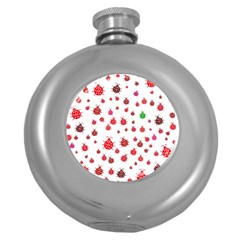 Beetle Animals Red Green Fly Round Hip Flask (5 Oz)