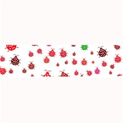 Beetle Animals Red Green Fly Large Bar Mats