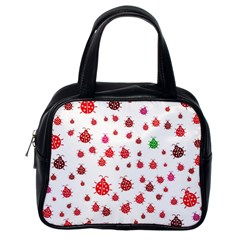 Beetle Animals Red Green Fly Classic Handbags (one Side)
