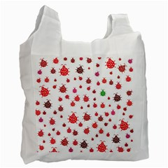 Beetle Animals Red Green Fly Recycle Bag (one Side)