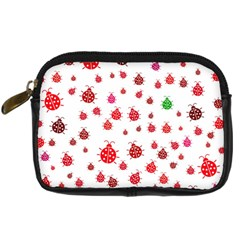 Beetle Animals Red Green Fly Digital Camera Cases