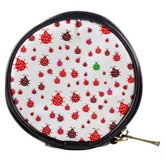 Beetle Animals Red Green Fly Mini Makeup Bags