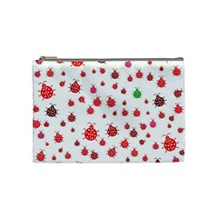 Beetle Animals Red Green Fly Cosmetic Bag (medium)