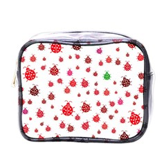 Beetle Animals Red Green Fly Mini Toiletries Bags