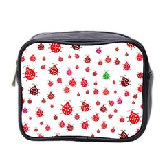 Beetle Animals Red Green Fly Mini Toiletries Bag 2 Side
