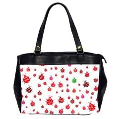 Beetle Animals Red Green Fly Office Handbags (2 Sides)