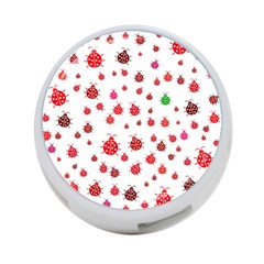 Beetle Animals Red Green Fly 4 Port Usb Hub (two Sides)