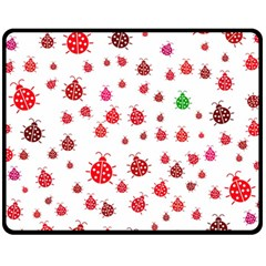 Beetle Animals Red Green Fly Fleece Blanket (Medium)