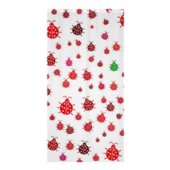 Beetle Animals Red Green Fly Shower Curtain 36  X 72  (stall)