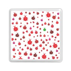 Beetle Animals Red Green Fly Memory Card Reader (square)