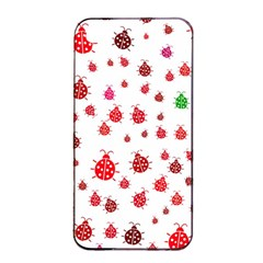 Beetle Animals Red Green Fly Apple Iphone 4/4s Seamless Case (black)
