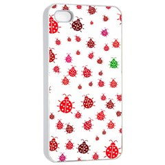 Beetle Animals Red Green Fly Apple Iphone 4/4s Seamless Case (white)