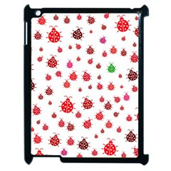 Beetle Animals Red Green Fly Apple Ipad 2 Case (black)
