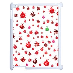 Beetle Animals Red Green Fly Apple Ipad 2 Case (white)