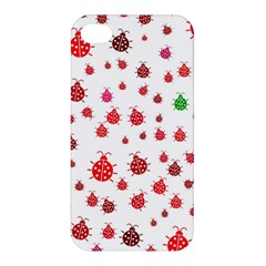 Beetle Animals Red Green Fly Apple Iphone 4/4s Hardshell Case