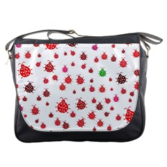 Beetle Animals Red Green Fly Messenger Bags