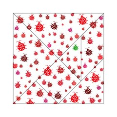 Beetle Animals Red Green Fly Acrylic Tangram Puzzle (6  X 6 )
