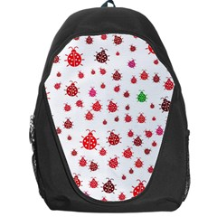 Beetle Animals Red Green Fly Backpack Bag