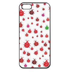 Beetle Animals Red Green Fly Apple Iphone 5 Seamless Case (black)
