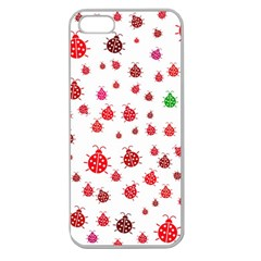 Beetle Animals Red Green Fly Apple Seamless Iphone 5 Case (clear)