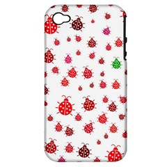 Beetle Animals Red Green Fly Apple Iphone 4/4s Hardshell Case (pc+silicone)