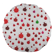 Beetle Animals Red Green Fly Large 18  Premium Round Cushions