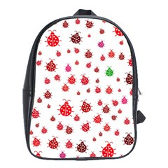 Beetle Animals Red Green Fly School Bags (xl)