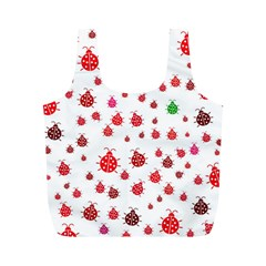 Beetle Animals Red Green Fly Full Print Recycle Bags (m)