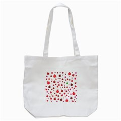 Beetle Animals Red Green Fly Tote Bag (white)