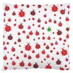 Beetle Animals Red Green Fly Standard Flano Cushion Case (one Side)