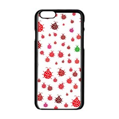 Beetle Animals Red Green Fly Apple Iphone 6/6s Black Enamel Case