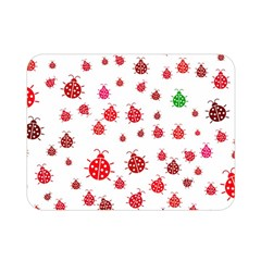 Beetle Animals Red Green Fly Double Sided Flano Blanket (mini)