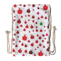 Beetle Animals Red Green Fly Drawstring Bag (large)