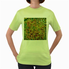 Art Modern Painting Acrylic Canvas Women s Green T Shirt