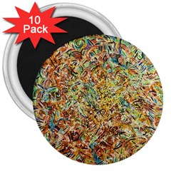 Art Modern Painting Acrylic Canvas 3  Magnets (10 Pack)