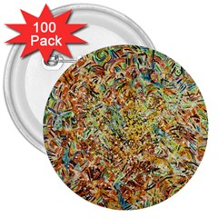 Art Modern Painting Acrylic Canvas 3  Buttons (100 Pack)