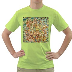 Art Modern Painting Acrylic Canvas Green T-Shirt