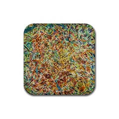 Art Modern Painting Acrylic Canvas Rubber Square Coaster (4 Pack)