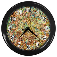 Art Modern Painting Acrylic Canvas Wall Clocks (black)