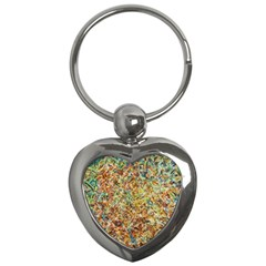 Art Modern Painting Acrylic Canvas Key Chains (heart)