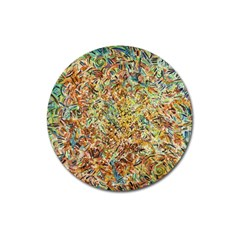 Art Modern Painting Acrylic Canvas Magnet 3  (round)