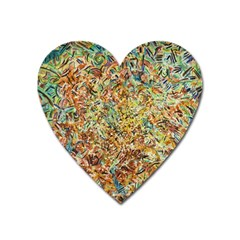 Art Modern Painting Acrylic Canvas Heart Magnet