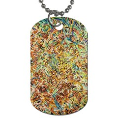 Art Modern Painting Acrylic Canvas Dog Tag (one Side)