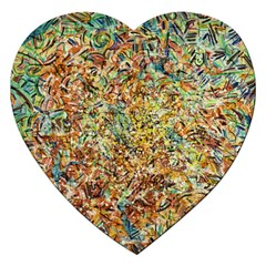 Art Modern Painting Acrylic Canvas Jigsaw Puzzle (heart)
