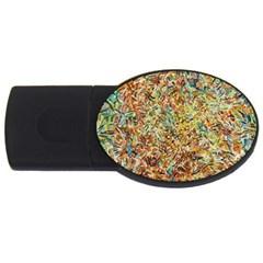 Art Modern Painting Acrylic Canvas USB Flash Drive Oval (4 GB)