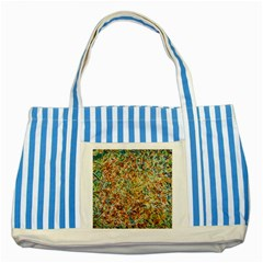 Art Modern Painting Acrylic Canvas Striped Blue Tote Bag