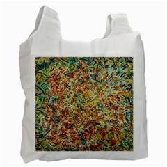 Art Modern Painting Acrylic Canvas Recycle Bag (one Side)