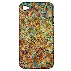 Art Modern Painting Acrylic Canvas Apple Iphone 4/4s Hardshell Case (pc+silicone)