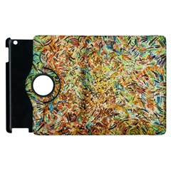 Art Modern Painting Acrylic Canvas Apple Ipad 2 Flip 360 Case
